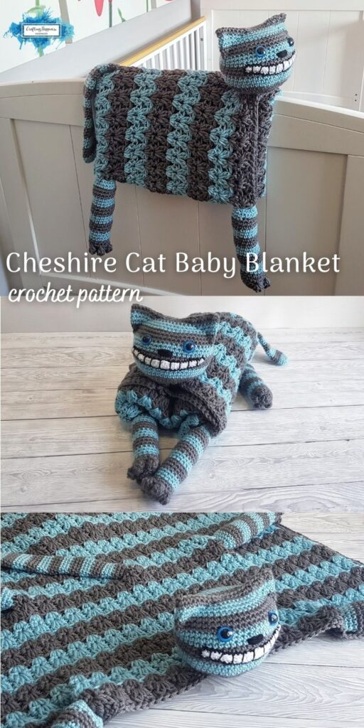 Cheshire Cat Baby Blanket PIN 4 BLOG POSTER
