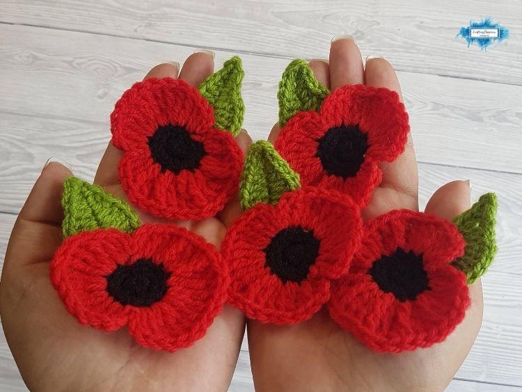 Crochet Poppy Brooch Blog