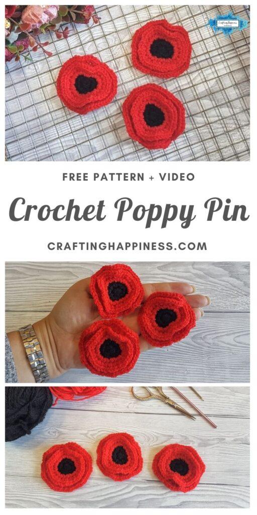 MAIN PIN BLOG POSTER Crochet Poppy Pin