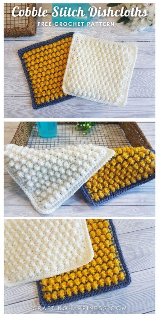 MAIN PIN - Cobble Stitch Dishcloths