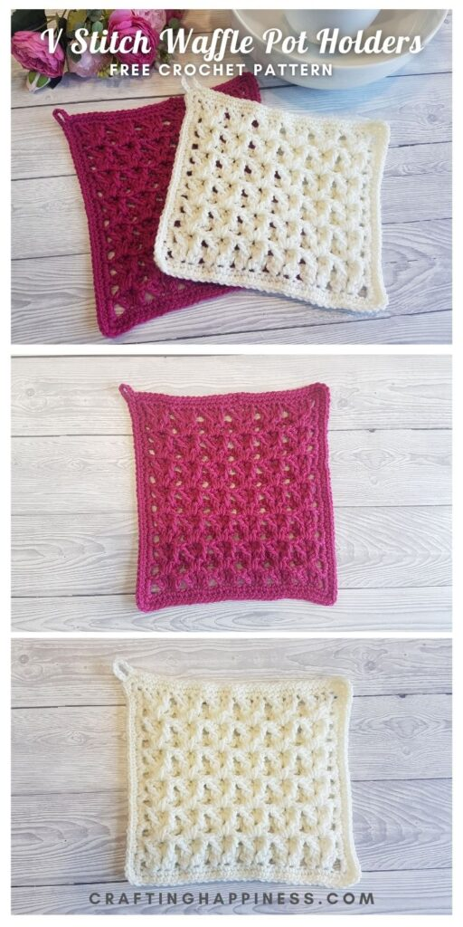 MAIN PIN - V Stitch Waffle Pot Holders