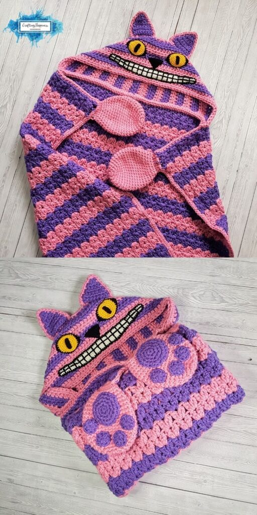 PIN 3 BLOG POSTER - The Cheshire Cat Hooded Blanket