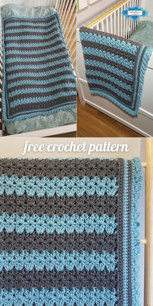 BLOG POSTER PIN 2 - Stripes & Ruffles Baby Blanket