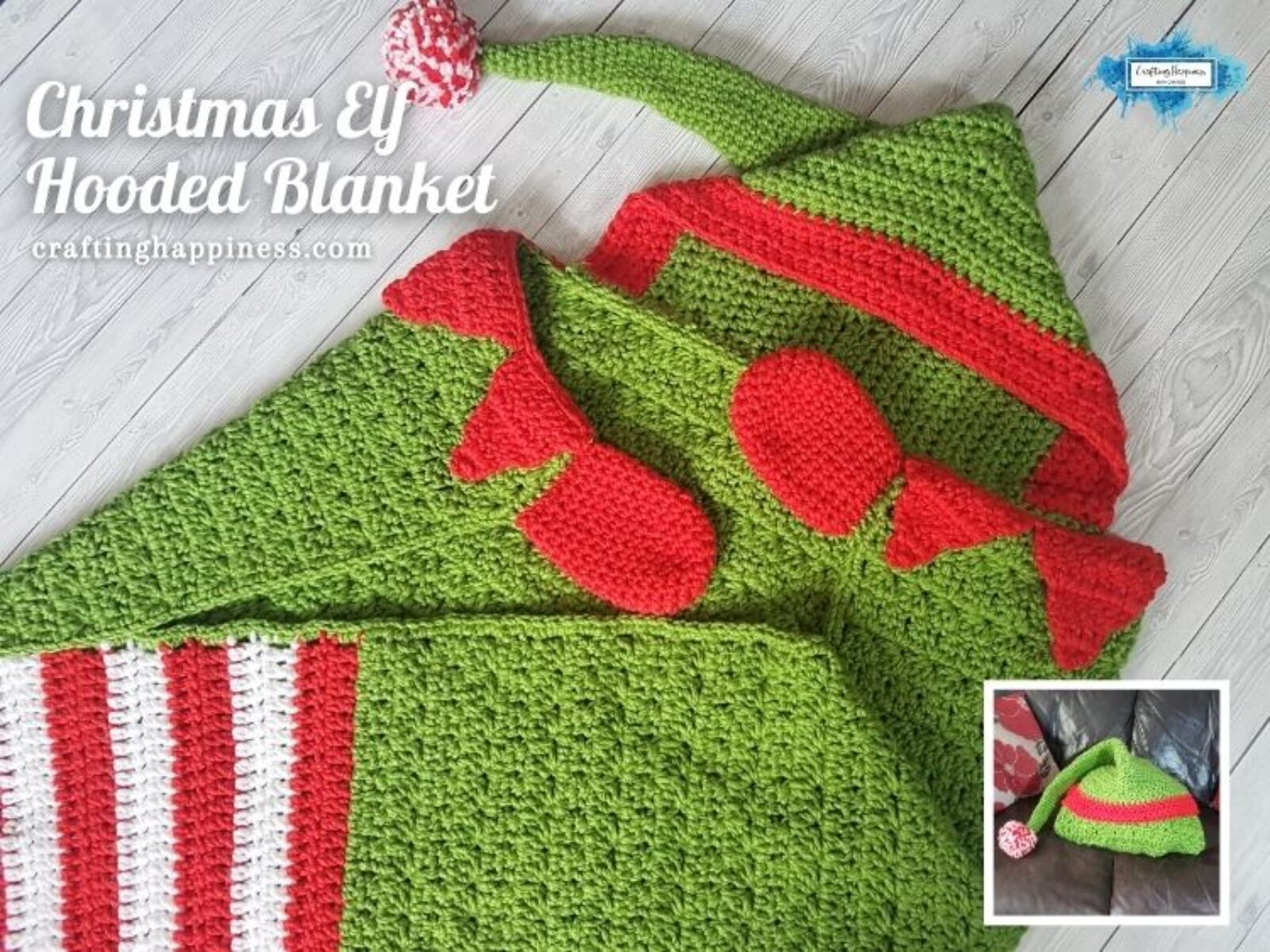 FACEBOOK BLOG POSTER Christmas Elf Hooded Blanket