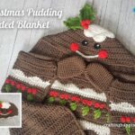 FACEBOOK BLOG POSTER Christmas Pudding Hooded Blanket