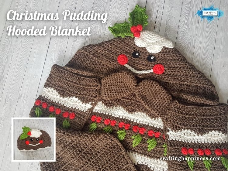 FACEBOOK BLOG POSTER Christmas Pudding Hooded Blanket