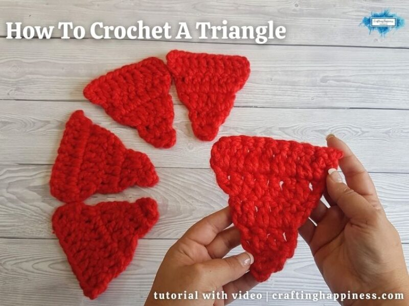 FB BLOG POSTER - How To Crochet A Triangle _ Crafting Happiness