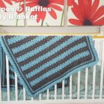 FB BLOG POSTER - Stripes & Ruffles Baby Blanket