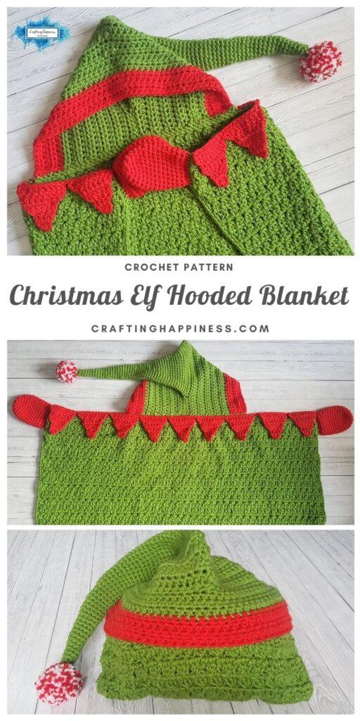 MAIN PINTEREST POSTER Christmas Elf Hooded Blanket
