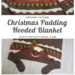 MAIN PINTEREST POSTER Christmas Pudding Hooded Blanket