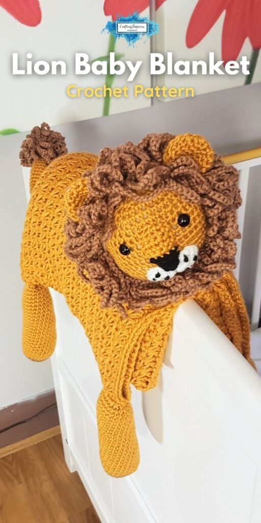 Animal Lion Baby Blanket Crochet Pattern _ Crafting Happiness