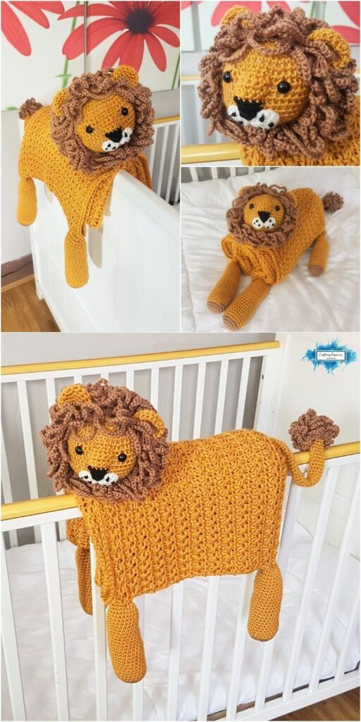 Animal Lion Baby Blanket _ Crafting Happiness