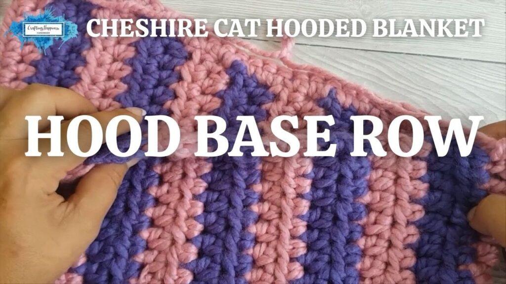 CHESHIRE CAT HOODED BLANKET - HOOD BASE ROW