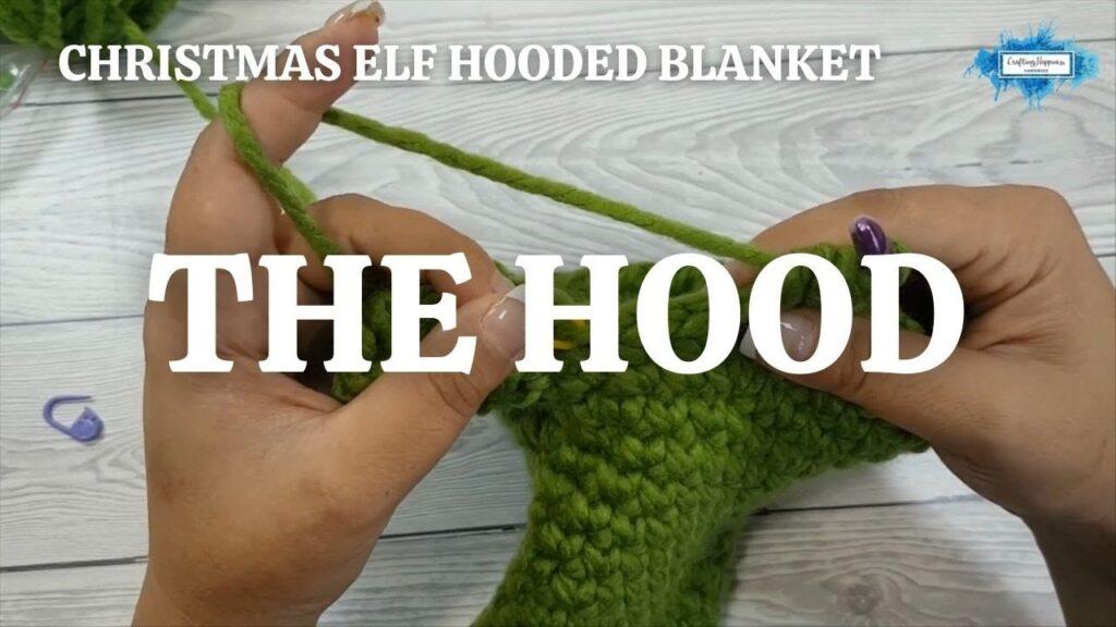 CHRISTMAS ELF HOODED BLANKET - THE HOOD