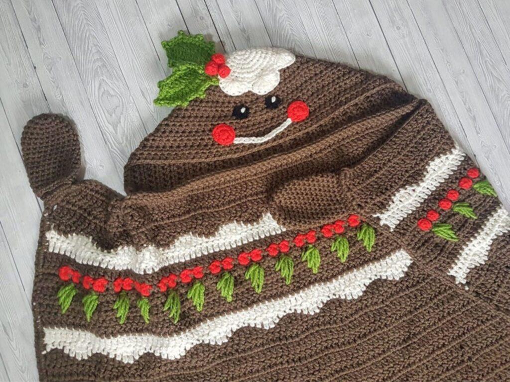 Christmas Pudding Hooded Blanket Member Photo