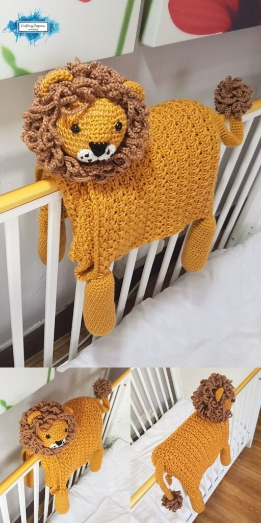 Crochet Lion Animal Baby Blanket _ Crafting Happiness