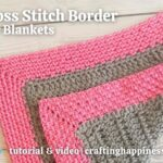 FB BLOG POSTER - Moss Stitch Border For Blankets