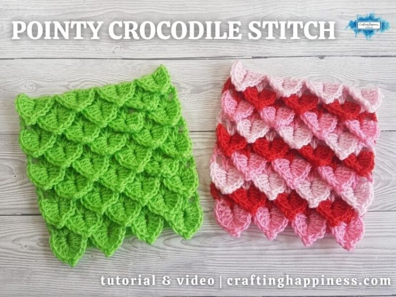 FB BLOG POSTER - Pointy Crocodile Stitch