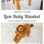 Lion Baby Blanket | Crafting Happiness Main Pin