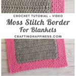 MAIN PIN BLOG POSTER - Moss Stitch Border For Blankets