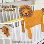 Safari Lion Baby Blanket Crafting Happiness FB Poster