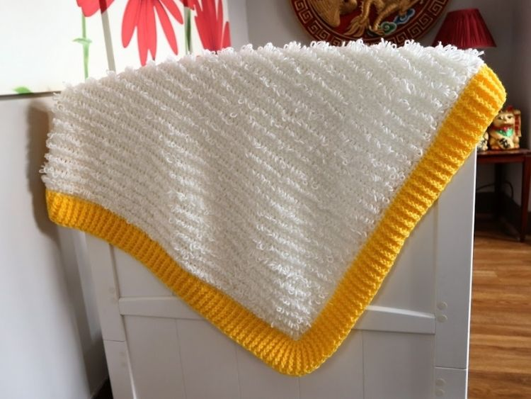 BLOG PHOTO 1 Loops and Ridges Baby Blanket Crafting Happiness