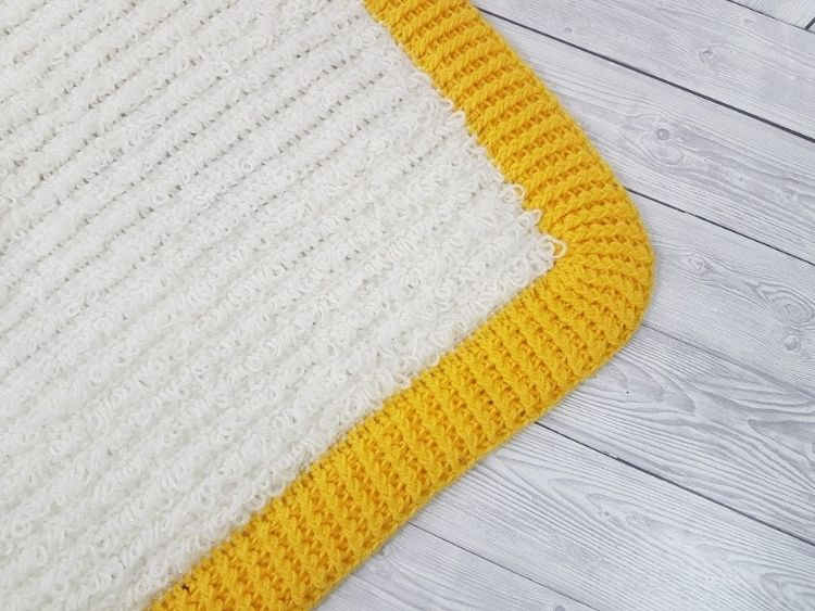 BLOG PHOTO 2 Loops and Ridges Baby Blanket Crafting Happiness