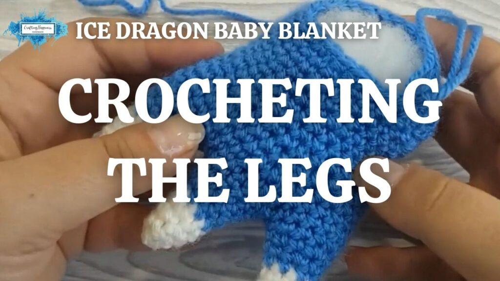 Exclusive Ice Dragon Baby Blanket - Crocheting The Legs Youtube Thumbnail