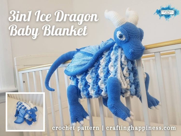 FACEBOOK BLOG POSTER - Ice Dragon Baby Blanket