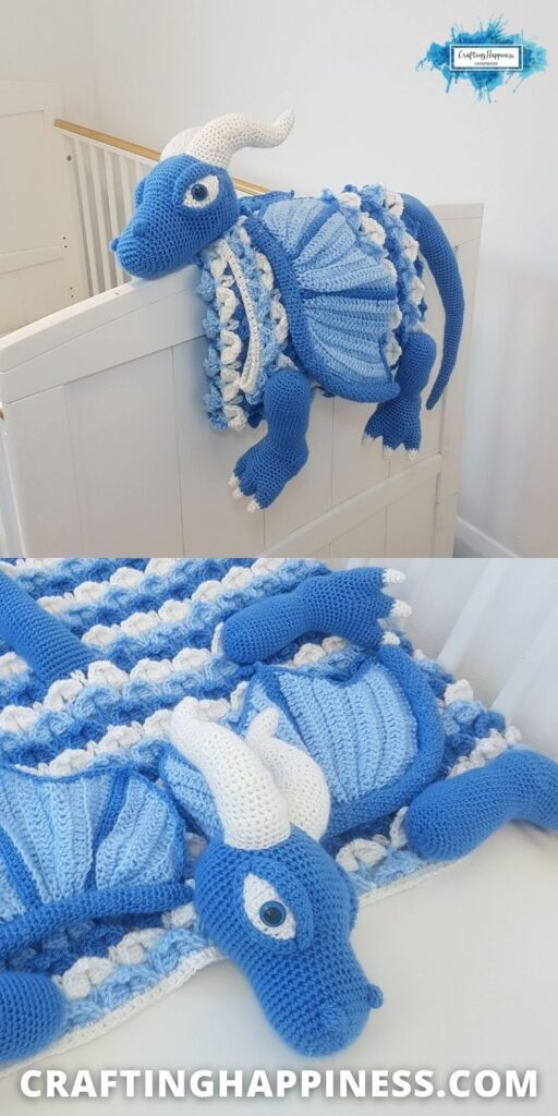 PIN 3 BLOG POSTER - Icy Dragon Baby Blanket Crochet Pattern