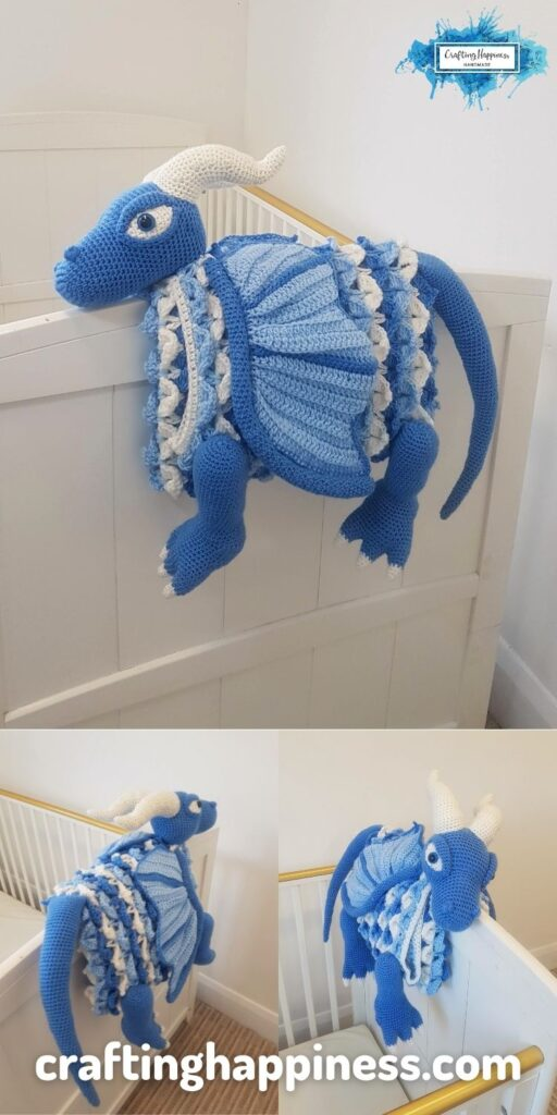 PIN 6 BLOG POSTER Icy Dragon Baby Blanket _ Crafting Happiness Crochet Pattern