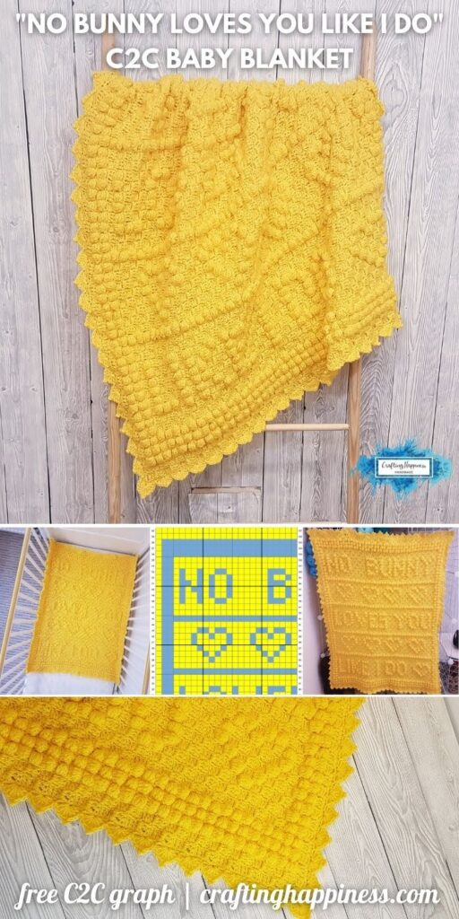 _BLOG POSTER PIN 1 - No Bunny Loves You Like I Do Baby Blanket _ Free Pattern + Graph
