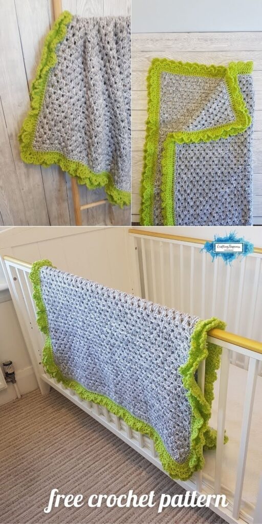 BLOG POSTER PIN 2 - Spring Vibes Baby Blanket Free Crochet Pattern Crafting Happiness