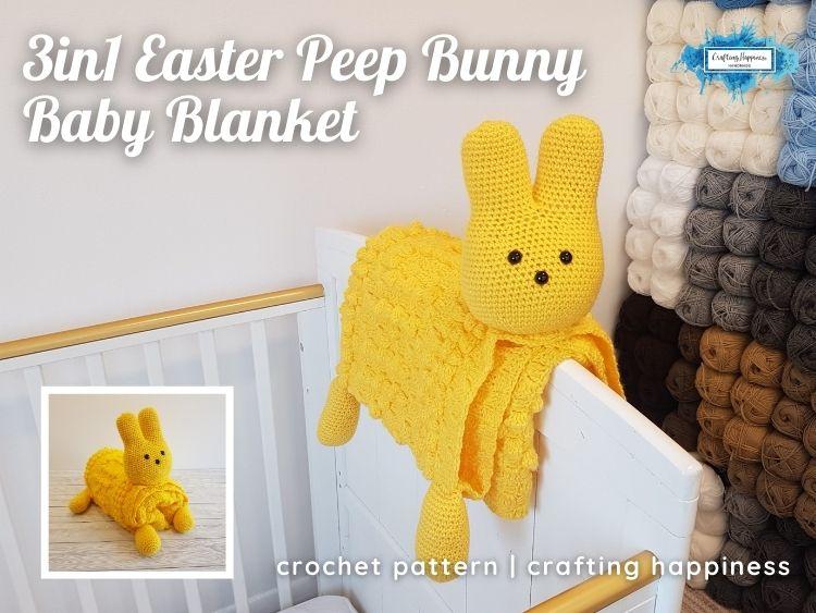 Easter Peep Bunny Baby Blanket FB Poster