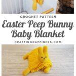 Easter Peep Bunny Baby Blanket MAIN PINTEREST POSTER