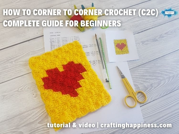 FB BLOG POSTER - C2C Crochet For Beginners _ Crafting Happiness