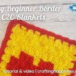 FB BLOG POSTER - Easy Border For C2C Blankets _ Crafting Happiness