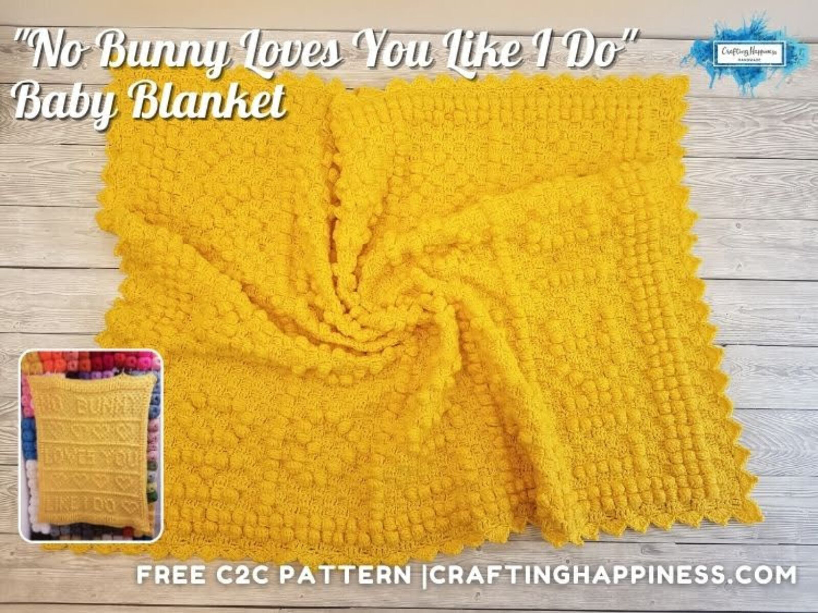 FB BLOG POSTER - No Bunny Loves You Like I Do Baby Blanket
