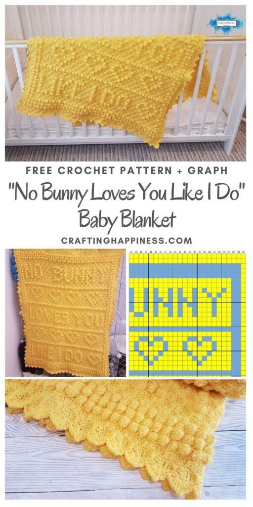 MAIN PIN BLOG - No Bunny Loves You Like I Do Baby Blanket- Crafting Happiness