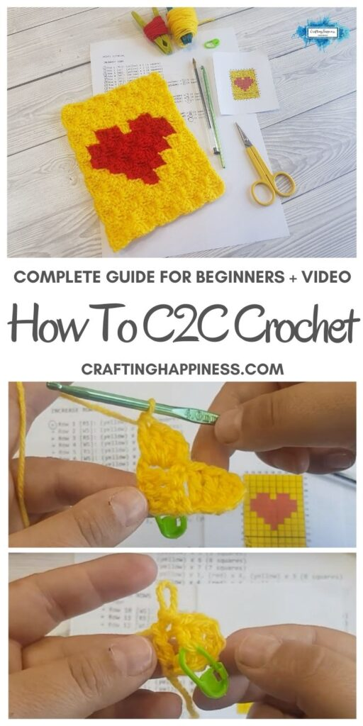 MAIN PIN BLOG POSTER C2C Crochet For Beginners _ Crafting Happiness