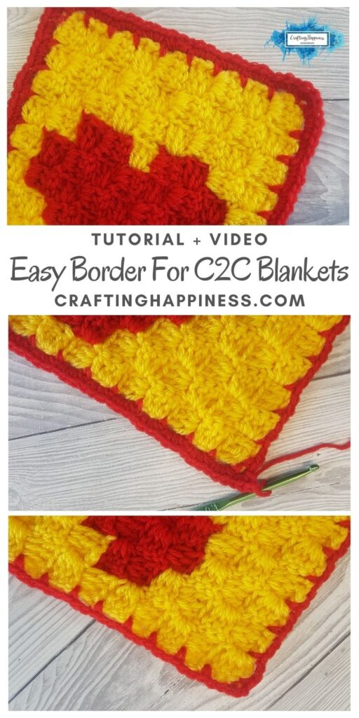MAIN PIN BLOG POSTER Easy Border For C2C Blankets _ Crafting Happiness