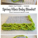MAIN PIN BLOG POSTER - Spring Vibes Baby Blanket Crafting Happiness