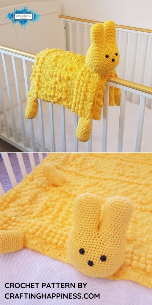 PIN 3 BLOG POSTER 3in1 Easter Peep Bunny Baby Blanket Crochet Pattern _ Crafting Happiness