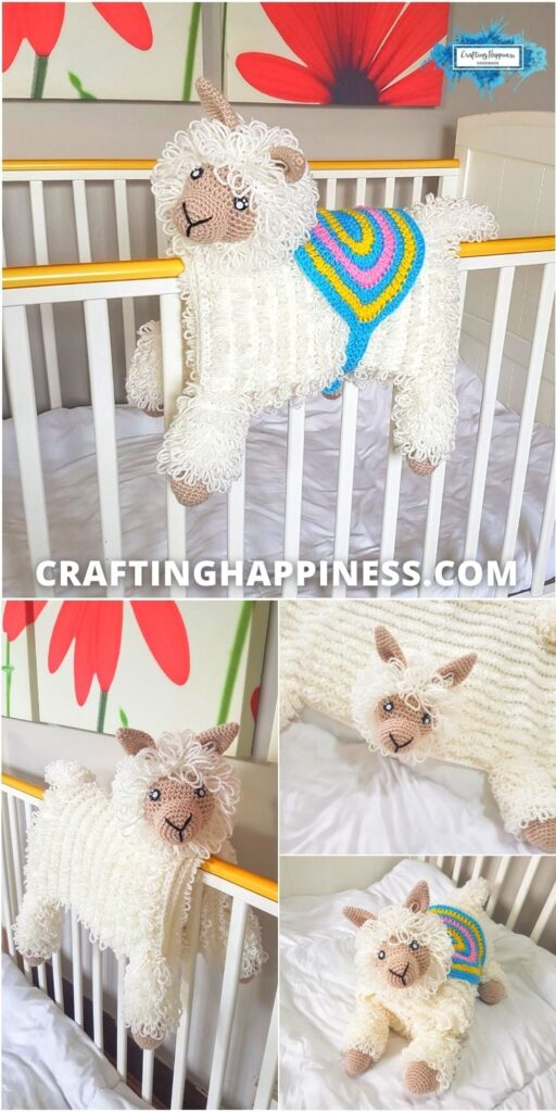 3in1 Llama Baby Blanket Crafting Happiness PINTEREST PIN 1 BLOG POSTER