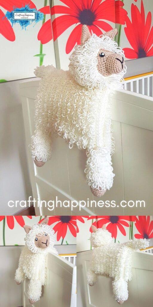 Crochet Llama Animal Baby Blanket Crafting Happiness PINTEREST PIN 6 BLOG POSTER