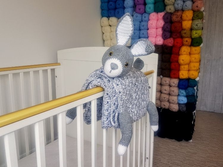 BLOG PHOTO Woodland Bunny Baby Blanket Crafting Happiness