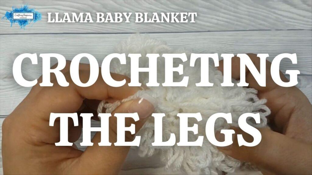 Exclusive Llama Baby Blanket - Crocheting The Legs Youtube Thumbnail