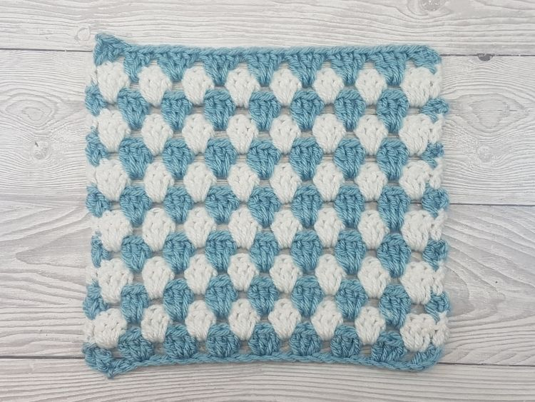 Granny Stripe Stitch Pattern Swatch 2 by Crafting Happiness