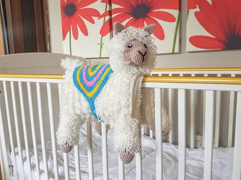 Llama Baby Blanket Shop Photo 1 - scaled