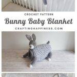 MAIN PINTEREST POSTER - 3in1 Woodland Bunny Baby Blanket